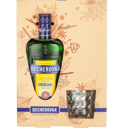 "Ликер ""Becherovka"" gift box with glass, 0.7 л"