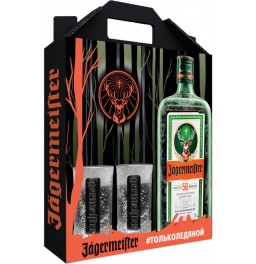 "Ликер ""Jagermeister"", gift box with 2 glasses, 0.7 л"