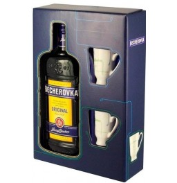 "Ликер ""Becherovka"", gift box with 2 cups, 0.5 л"