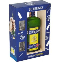Ликер Becherovka, gift box with 2 glasses, 0.7 л