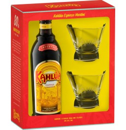 "Ликер ""Kahlua"", gift box with 2 glasses, 0.7 л"